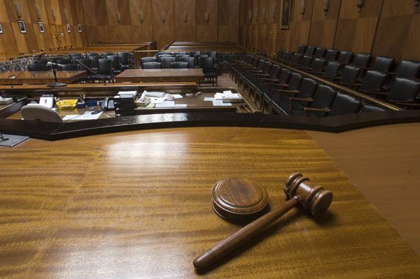 Gavel and Courtroom image